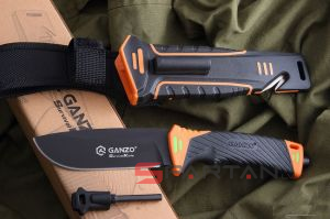 GANZO G8012 Orange (Survival Knife)